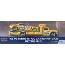 Car Culture Team Transport '72 Plymouth Cuda Fanny Car Retro Rig
